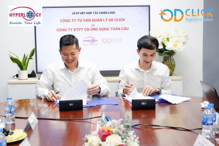 Lễ ký kết hợp tác giữa Hyperlogy và OD Click
